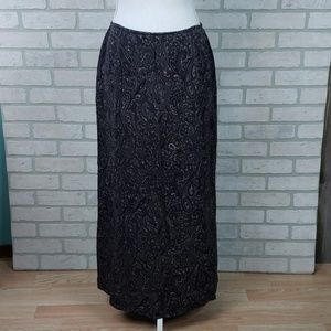 NWT Jones New York Silk Skirt Sz 12 Paisley